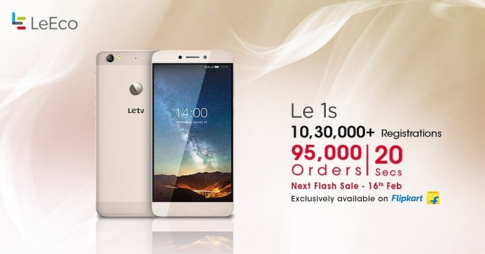 95,000 Le 1S Smartphones sold in 20 seconds in its second ...