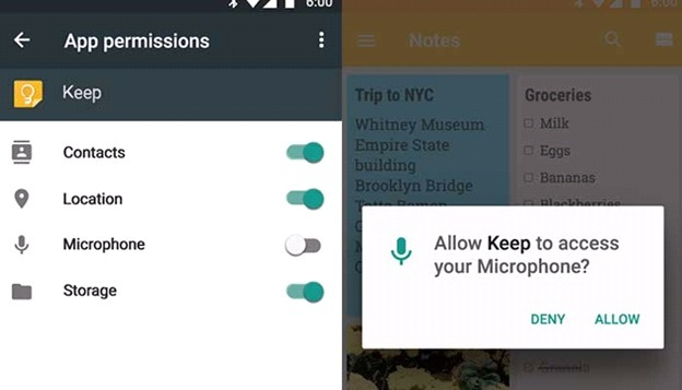Android Marshmallow 6.0 Feature Permissions