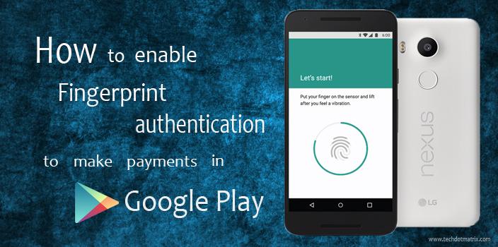 fingerprint scanner google play