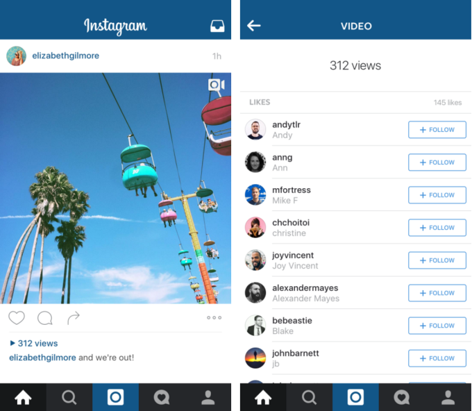 Instagram to add Video Counts very soon