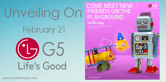 LG G5 February 21 MWC 2016