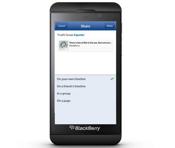 Facebook to cease support in Blackberry OS