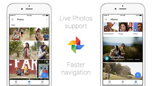 google photos support live photos