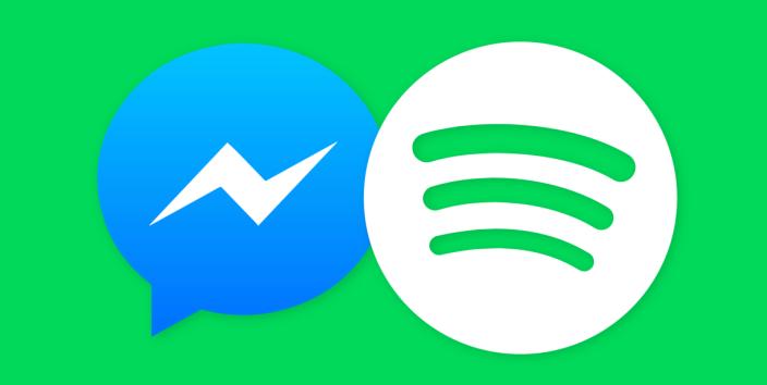 spotify sharing through Facebook Messenger