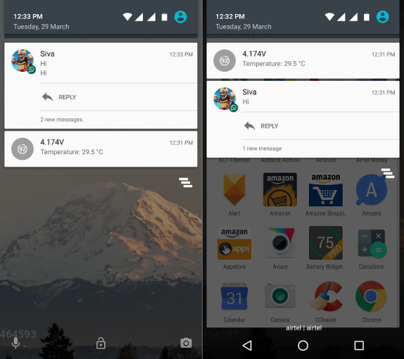 You can now quick reply WhatsApp Notifications in Android