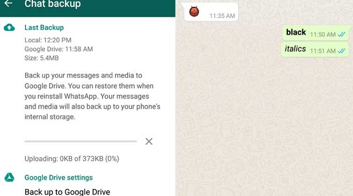 Whatsapp bold and italics