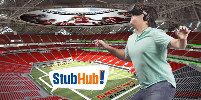 StubHub app now allows you to view seats in Virtual Reality