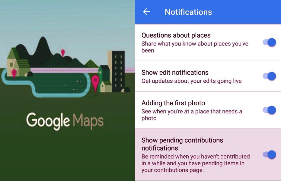 Google Maps beta version