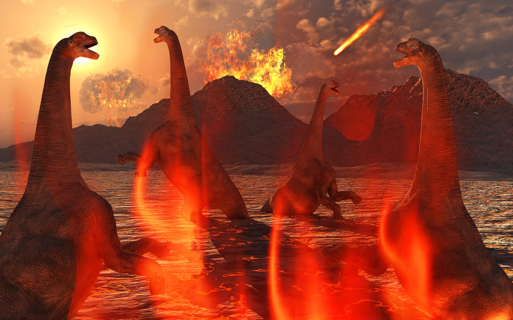 dinosaurs extinct indian volcano eruption