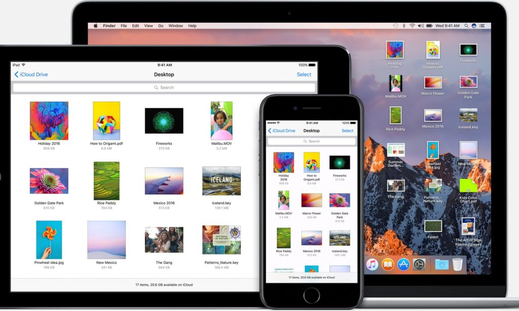 Mac OS Sierra iCloud drive