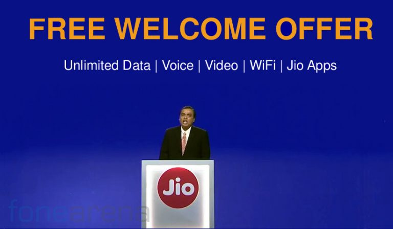 Reliance Jio Welcome offer 4g smartphones