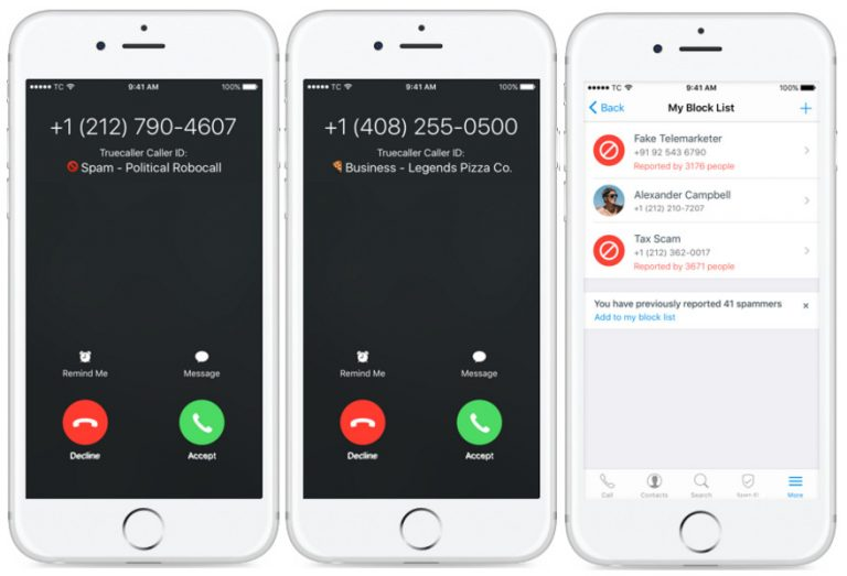 spam protection truecaller iOS 10
