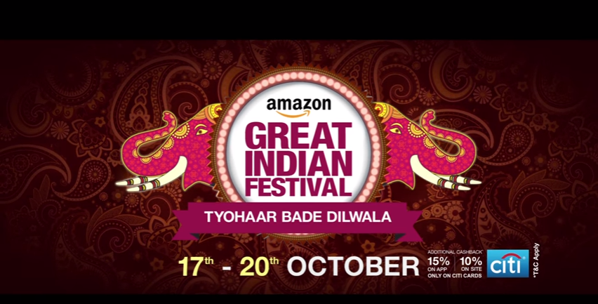 Amazon Great Indian Festival Sale oct 17 20