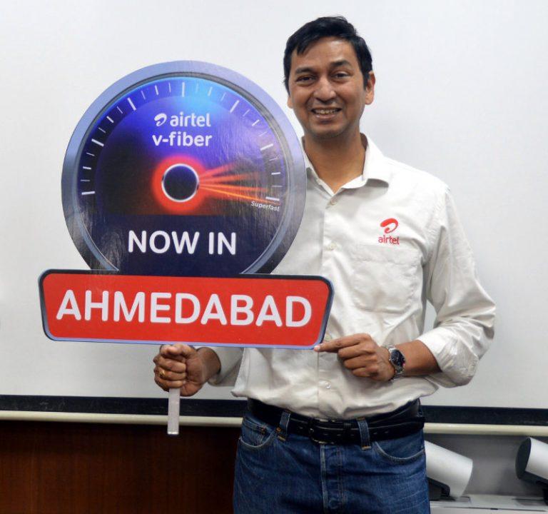 airtel v-fiber in ahmedabad