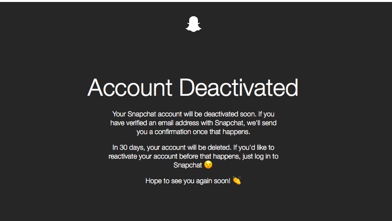 delete your Snapchat account