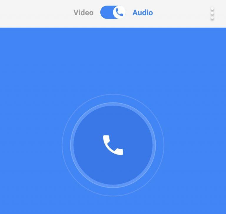 google duo audio calling