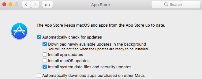 enable or disable automatic updates