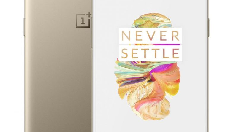 Soft Gold Limited Edition OnePlus 5 smartphone introduced