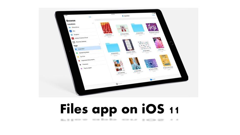 Files app on iOS 11