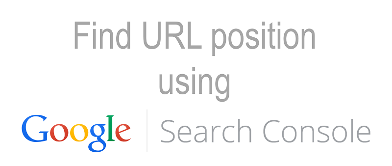 Find the traffic stats of a specific page in Google Search Console