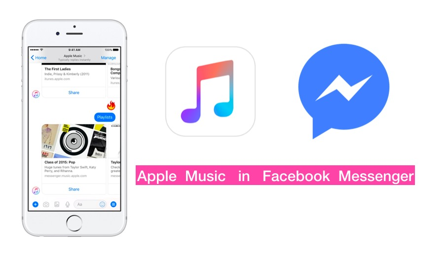 Apple Music in facebook messenger