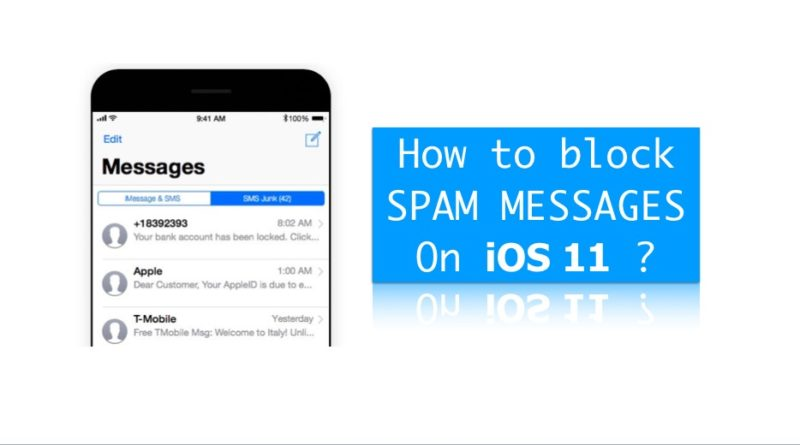 block spam messages on iOS 11