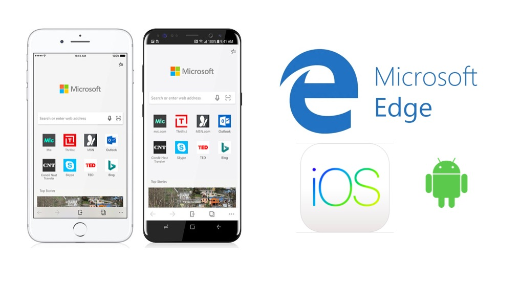 Microsoft edge for android and iOS
