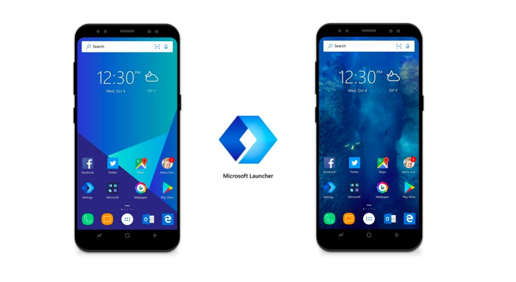 Microsoft launcher for android and iOS