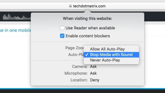 disable autoplay of videos on safari