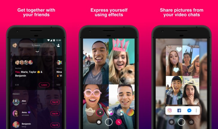 facebook bonfire video chat app