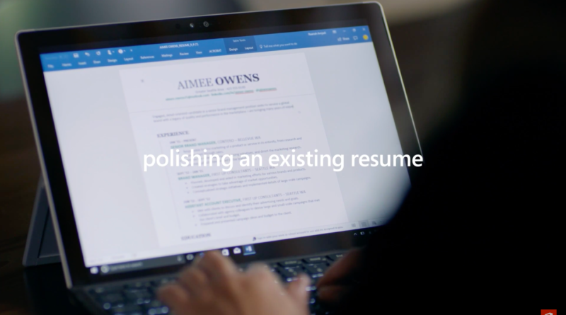 resume assistant introduced by microsoft in office 365 apps