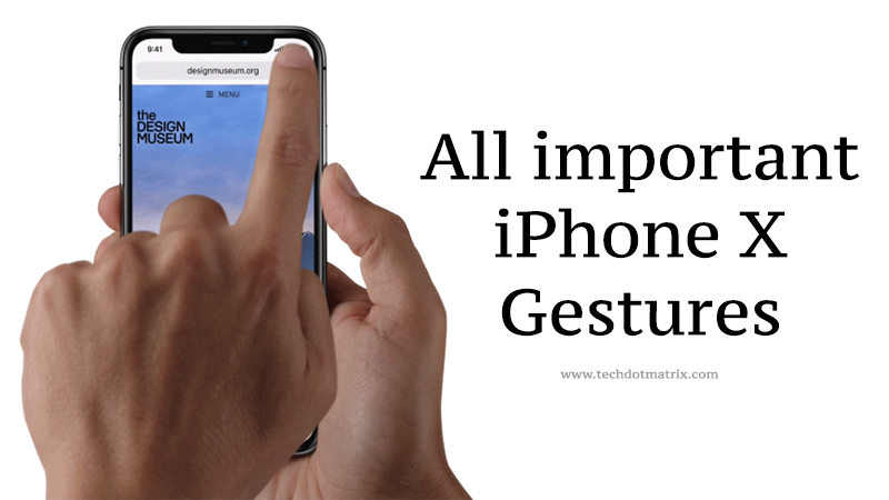 All important gestures of iPhone X