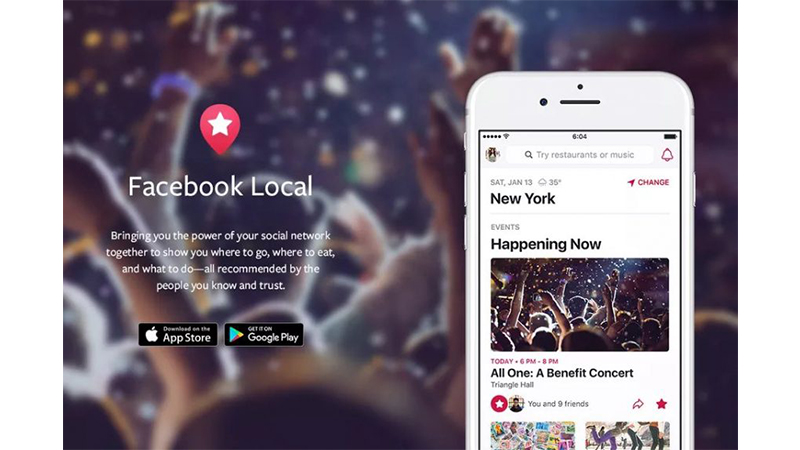 Facebook local app for Android and iOS