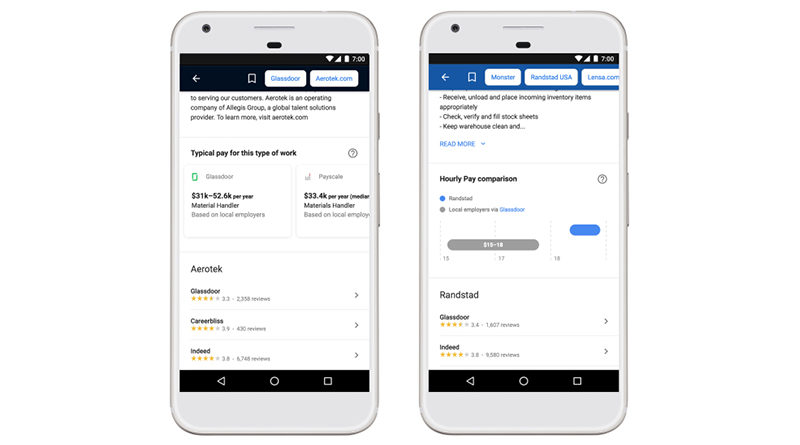Google Jobs search engine