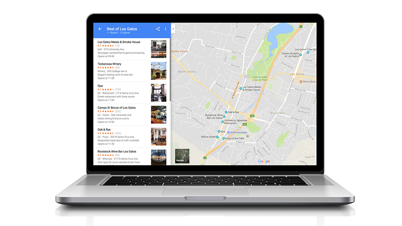 google maps lists desktop