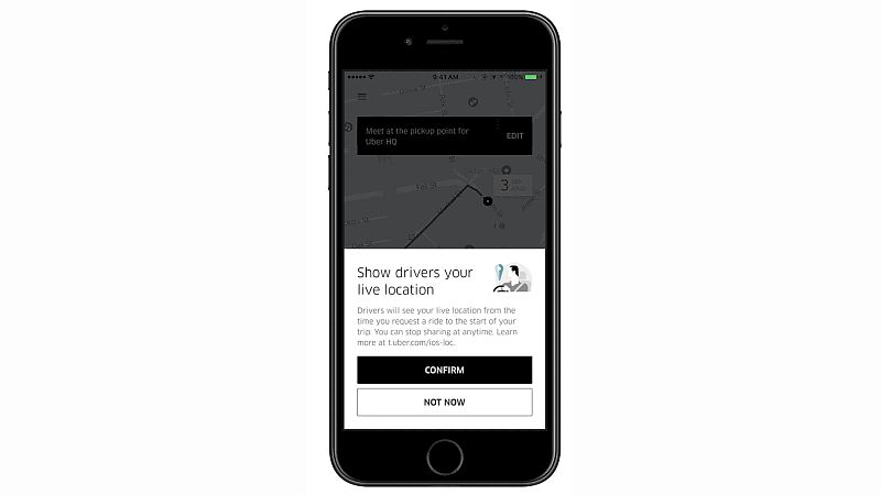 uber live location sharing