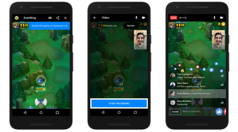 Facebook brings support for live streaming and video chats to Messenger Games