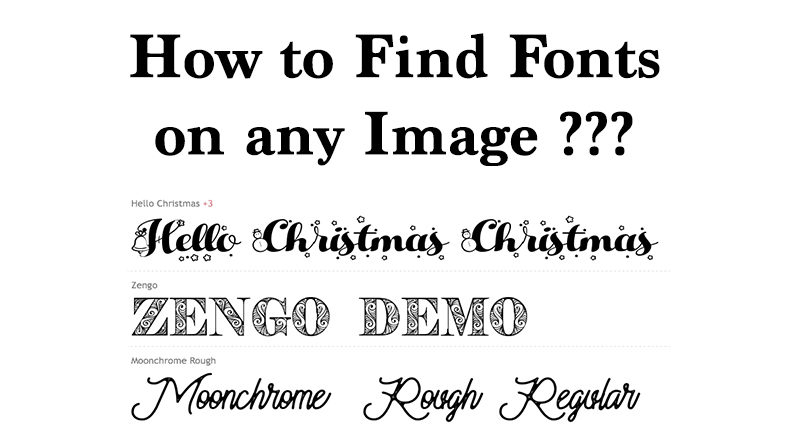 How to find fonts on any image