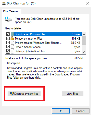 delete old Windows Update Files