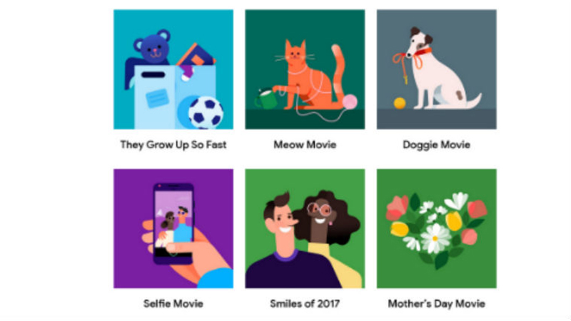google photos themed movies