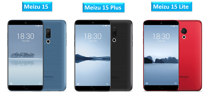 Meizu 15, Meizu 15 Plus and Meizu 15 Lite