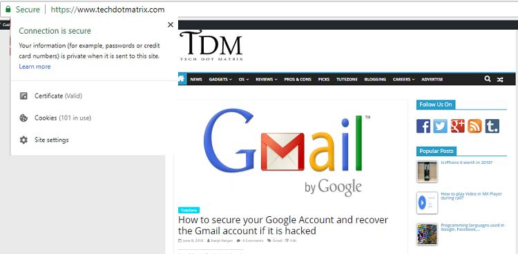 HTTPS is secure