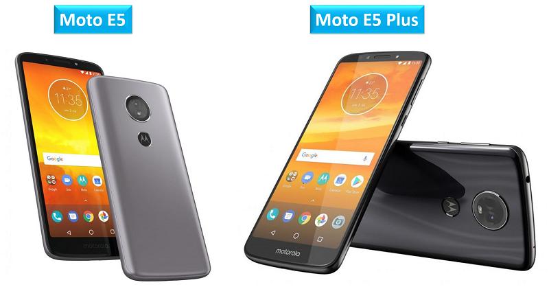 Moto E5 and Moto E5 Plus smartphone