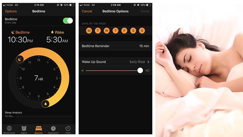 bedtime feature ios