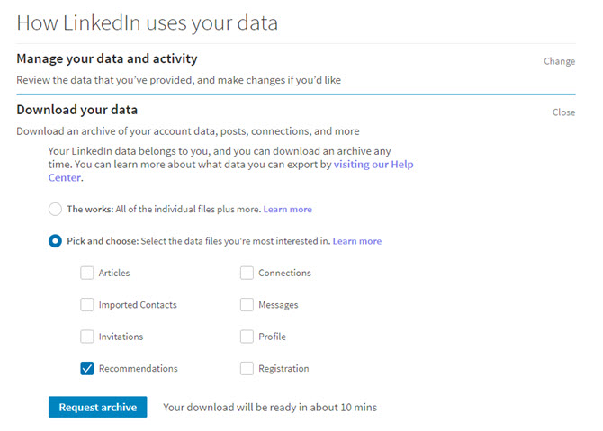 download our linkedin data