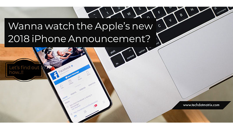 how to watch apple event in 2018