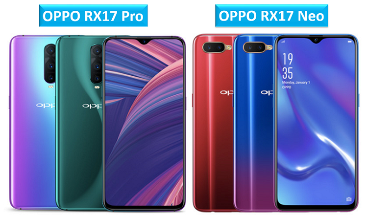 OPPO RX17 Pro and OPPO RX17 Neo