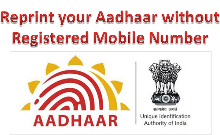 Aadhaar card without registered Mobile number