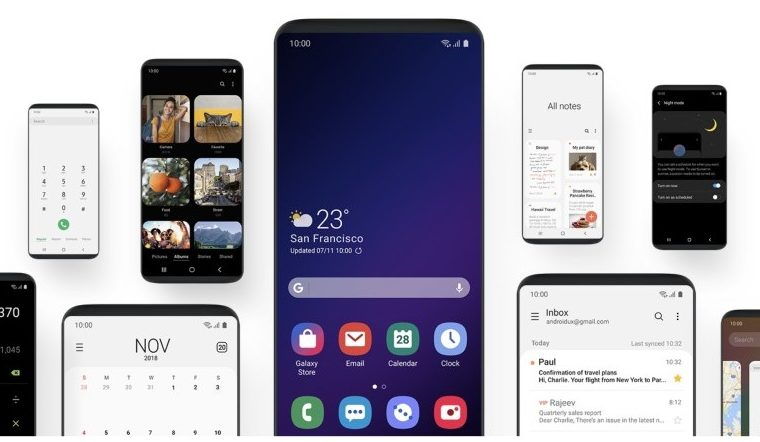 android pie update with one ui for samsung