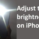 How to adjust the flashlight brightness on iPhone